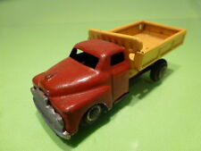 TIN PLATE TOYS TRUCK - RED YELLOW- GOOD CONDITION - FRICTION - TEKNO LOOK A LIKE