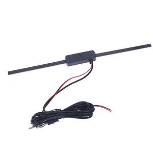 Auto Car Hidden Amplified Antenna 12V Electronic Stereo AM/FM Radio J jb B^