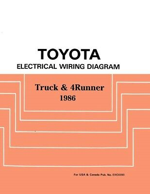 1986 Toyota Truck & 4Runner Wiring Diagrams Schematics ...
