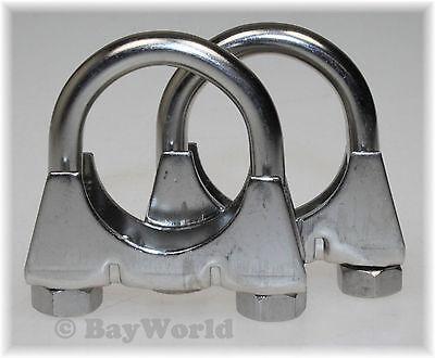 10St Auspuffschelle Rohr-Bügel Schelle U-Bolt Clamp M8 x 56 mm Flachbügelschelle