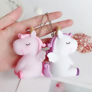 unicorn hanging pieces  Key Chain Bag Car Key Ring Accessories Cute Key Chain