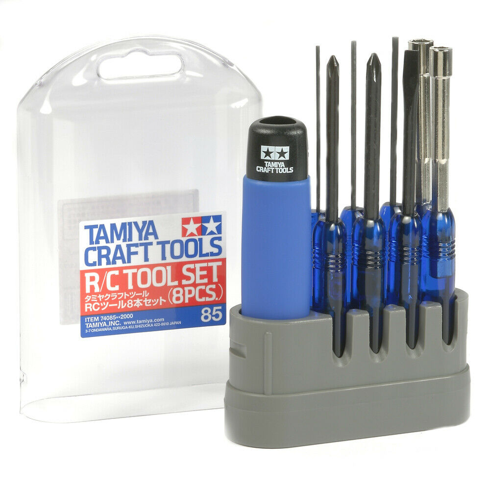 Tamiya Craft Tools R C Screwdriver & & & Hex Wrench 8 Piece Tool Set - 74085 3343c6