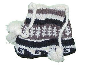 Childrens 4 Corner Tassel Winter Wool Hat Osfm Unisex New
