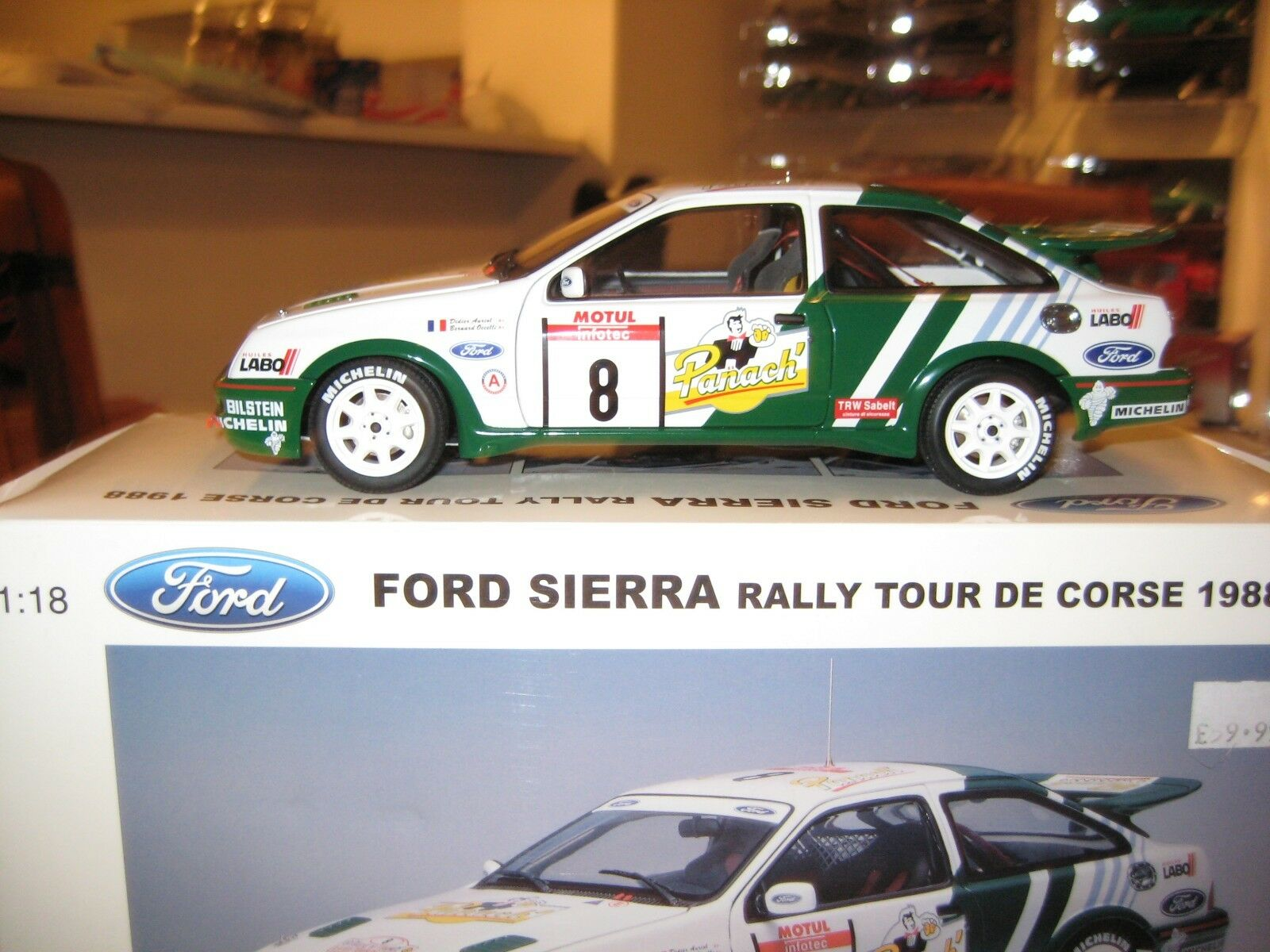 AUTOART FORD SIERRA COSWORTH   8 TOUR DE CORSE 1988 WINNER DIDIER AURIOL / BERNA