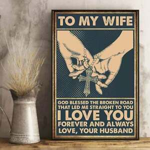 Elephant Husband Poster Love Wife I Love You Forever /& Always Inspiration Quote