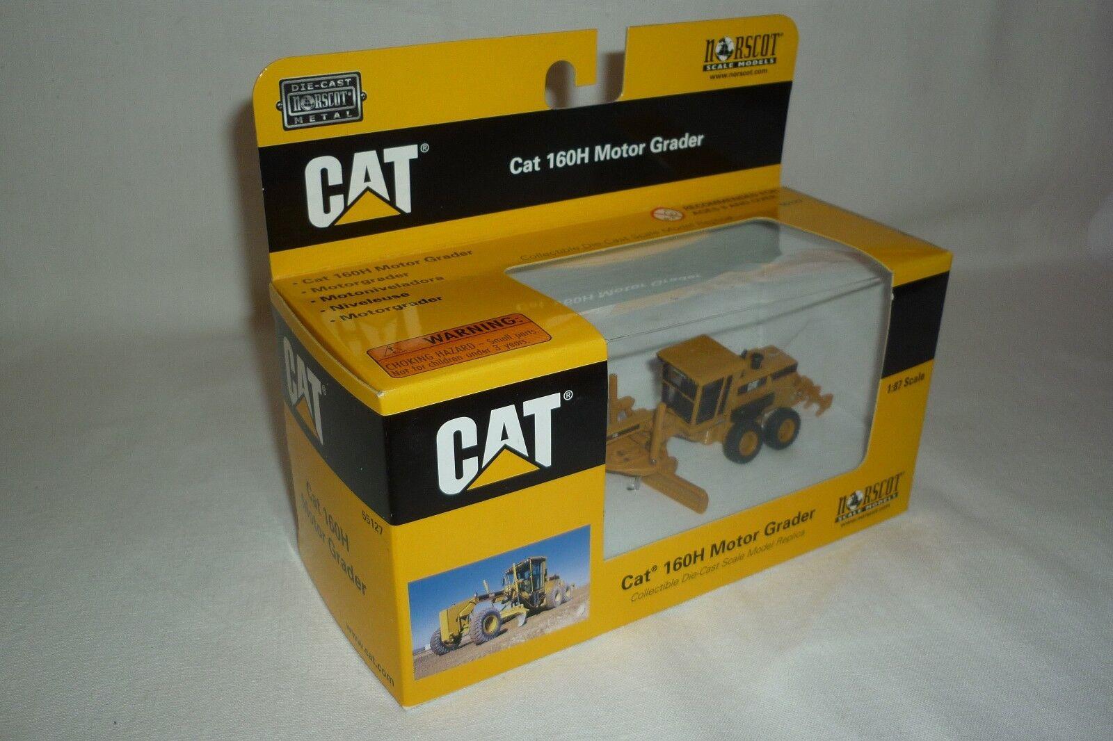 Norscot - Metal Model - Caterpillar Cat 160 H Engine Grader 1 87 Ovp (9.bm-26)