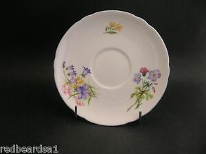 China-Replacement-Shelley-Vintage-Wild-Flowers-Saucer-England-13668-c1940s-14cm