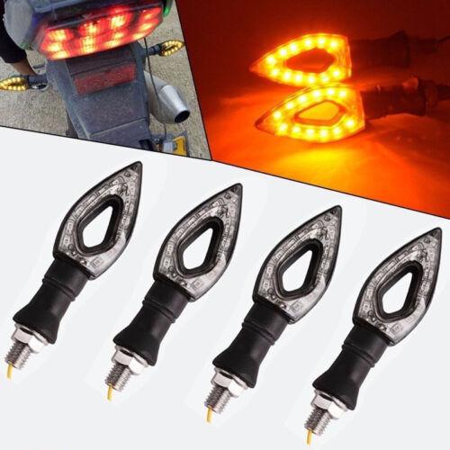 4X Black LED Turn Signals Light Indicators Suzuki SV 650 1000 GSF 1250 Bandit