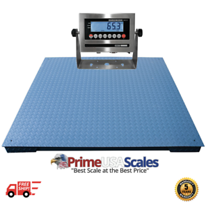 Industrial Heavy Duty Floor Scale 2500 lbs x .5 lb 60 x 96 Op-916-5 x 8