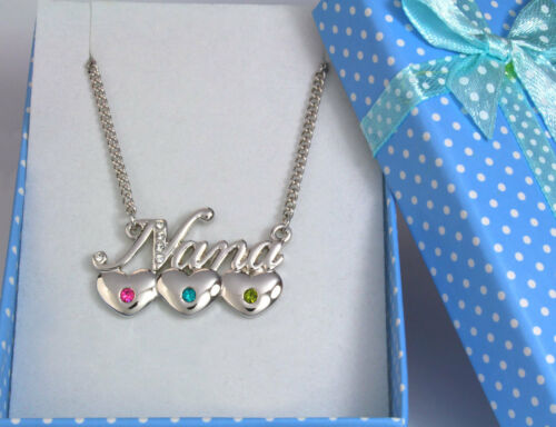 """/""""NANA/"""" Necklace 18K Gold Plated Heart High Quality Present for Grandmother"""
