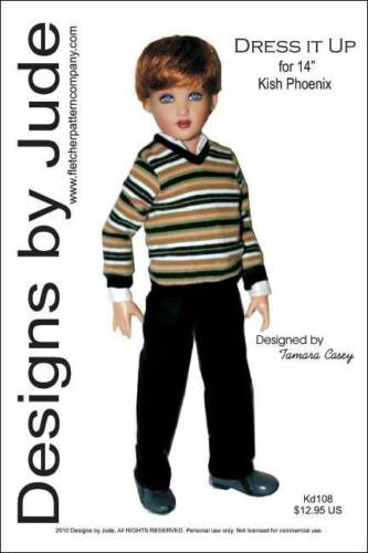 """Dress it Up Doll Clothes Sewing Pattern  for 14/"""" Kish Phoenix"""