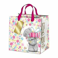 Me to You Large Gift Bag Floral Design Just For You Present Bag - Tatty Teddy