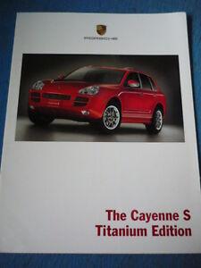 Bien éDuqué Rare Porsche Cayenne Titane édition Brochure 2006 Année Modèle Jm-afficher Le Titre D'origine Prix De Vente