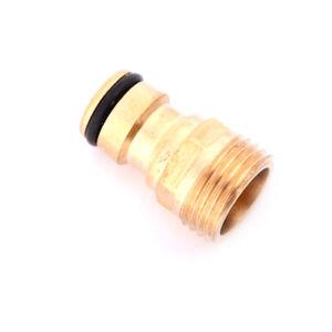 1-2-034-JHreaded-Brass-Tap-Adaptor-Garden-Water-Hose-Quick-Pipe-Connector-FittU-S