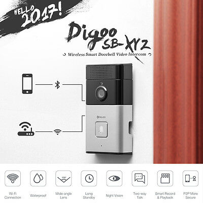 Digoo Wireless Bluetooth WIFI Remote HD Video Phone Doorbell Door Camera Monitor