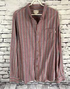 Obey-Propaganda-Striped-Button-Down-Flannel-Shirt-Mens-Size-XL