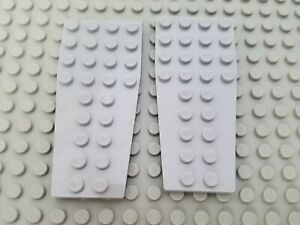LEGO Lot of 4 Pair of Dark Bluish Gray 6x3 Wedge Wing Space Plates
