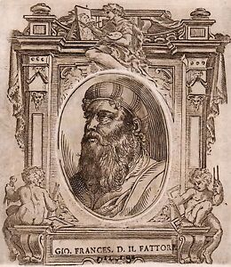 Gravure-XVIIIe-Giovan-Francesco-Penni-il-Fattore-Firenze-Peintre-Peinture