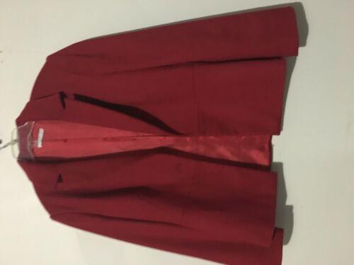 46 Wool Italy Stylish Modern Size Red Women Cut Jacket Blazer Halfon dEIwpqw