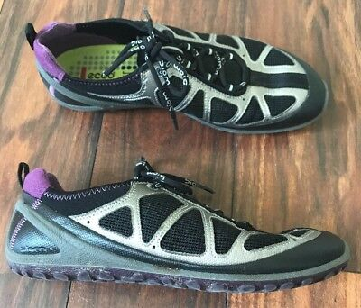 ECCO BIOM LITE 1.2 LADIES Lace up shoes EU 37 US 6.5 Black Silver Purple | eBay
