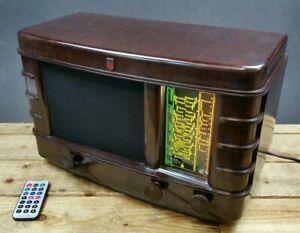 Philips-206A-Art-Deco-Bakelite-Radio-CONVERTED-Bluetooth-Speaker-FM-USB-Phono