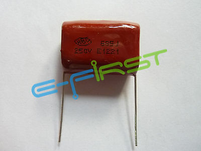 50PCS CBB 685J 250V CL21 6.8UF 6800NF P27 Metallized Film Capacitor