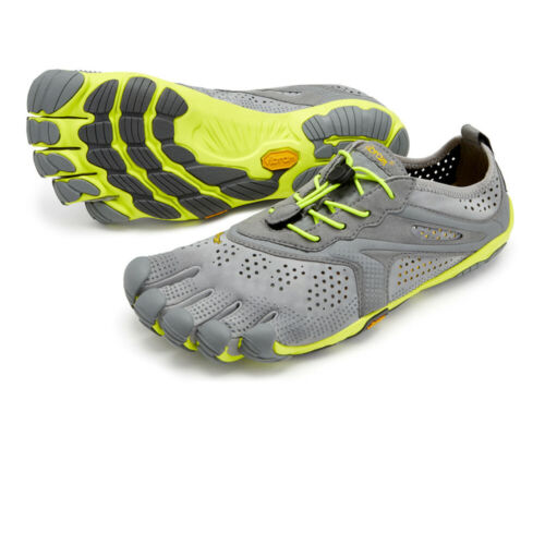 Vibram Mens Fivefingers V-RUN Running Shoes Trainers Sneakers Grey Yellow Sports
