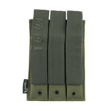 Airsoft Military Style Mp 5 Molle Mag Pouch Triple Mag Pouch Green Viper