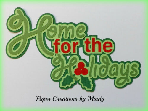 CRAFTECAFE MINDY HOLIDAYS CHRISTMAS title premade paper piecing for scrapbook