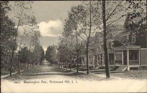 Richmond-Hill-Long-Island-NY-Washington-Ave-c1905-Postcard-jrf