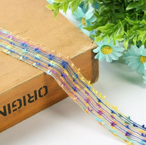 5 Yards Colorful Toothbrush lace Crafts hat clothing sewing accessories lace