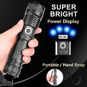 XHP90 Most Powerful 110000LM Tactical 3 Mode Zoom Flashlight LED Hunting Torch