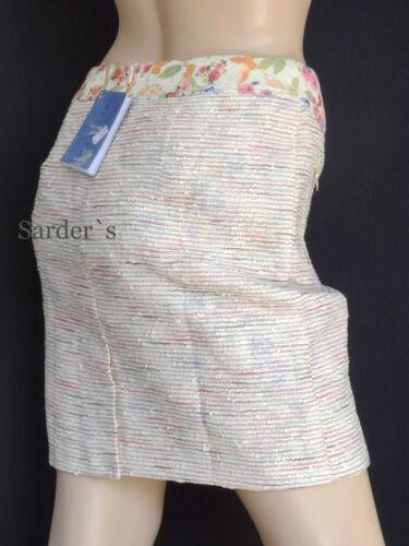 Bluebeery Boucle Rock 46 Made Poland Stein Beige Elegant  Luxus Mini Skirt Neu