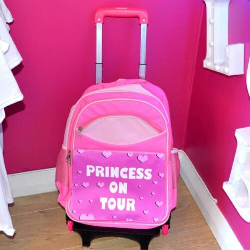 Kids Princess On Tour Travel Bag /& Pull Along TrolleyHolidaySuitcase