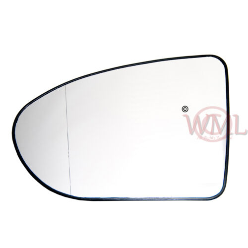 DOOR MIRROR GLASS SILVER ASPHERIC,HEATED/&BASE,LEFT FOR NISSAN QASHQAI 2006/>2013