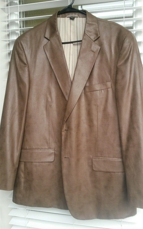 Men haspel polyester brown blazer 44R