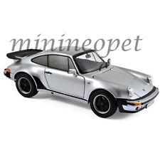 NOREV 187574 1977 77 PORSCHE 911 TURBO 3.3L 1/18 DIECAST MODEL CAR SILVER