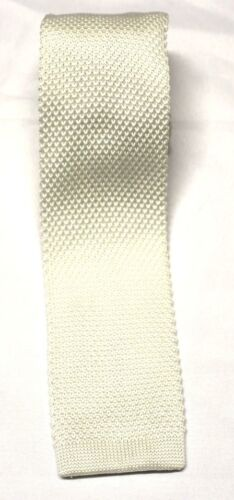 """Mens Knit Knitted Neck Tie Woven Slim Square 2.5/"""" 57-60 Many Colors And Styles"""
