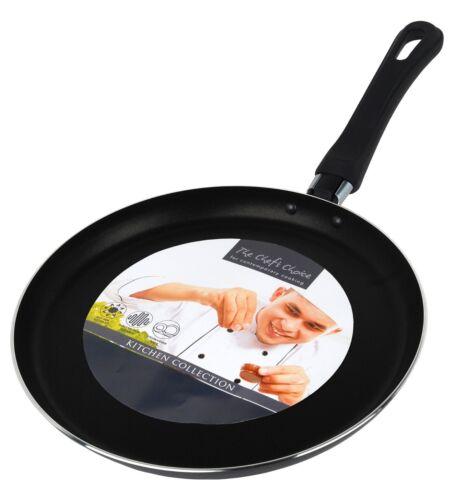 Pancake//Crepe Frypan 25cm Shallow Rim /& Non Stick Pancake Day Black