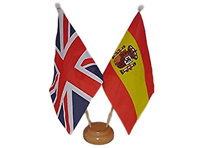 """with Wooden Stand Norfolk No Crest Table Flag 9/"""" x 6/"""""""