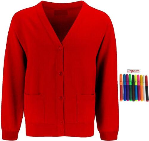 Only Uniform Skooleez Kids School Fleece Cardigan Pack Of 3 With Marker Set