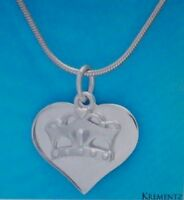 Krementz Sterling Silver Heart Crown Necklace