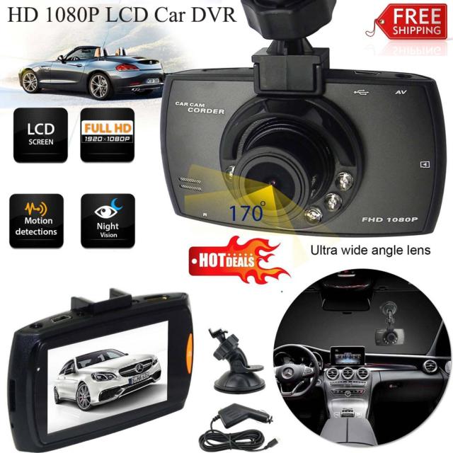 1080p HD In Car DVR Camera CCTV IR Night Vision Motion Dash Cam Video Record 2.4