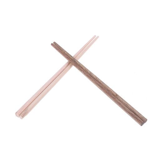 10pairs natürliche Holz Bambus Stäbchen Gesundheit ohne Lack Geschirr QY