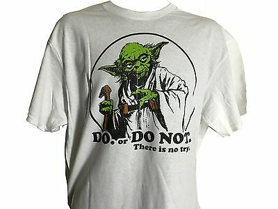 Star Wars Jedi Master Yoda Do or Do Not There is No Try Movie Quote T shirt