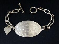 "Vintage bracelet gourmette ""Amor"" en argent massif signé LA LUNA"