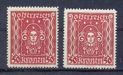 Ank 400 I.+ii.** 50 Kronen Frauenkopf Hoch Breitformat Postfrisch U