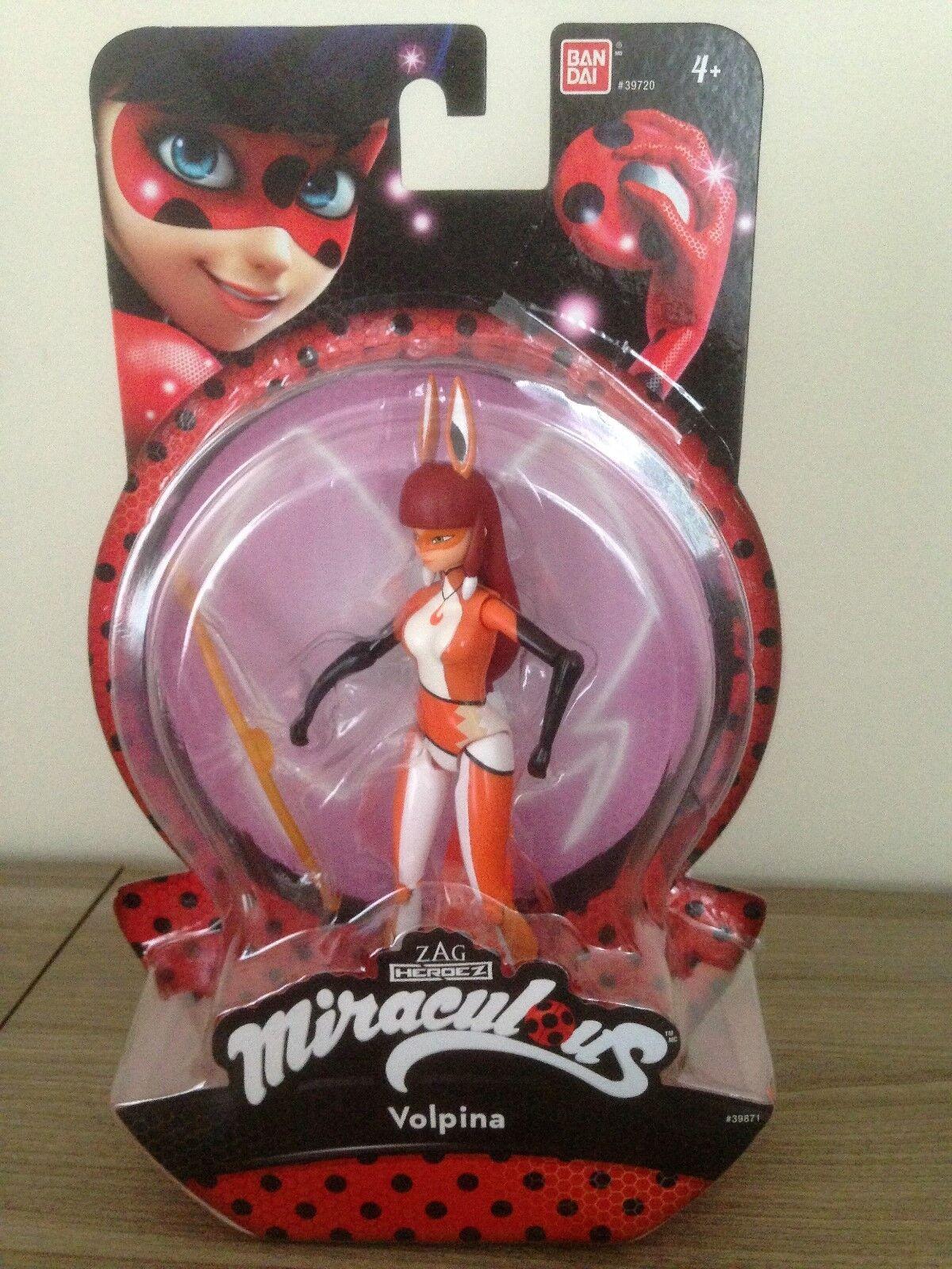 Bandai Zag Zag Zag Heroez Miraculous VOLPINA 15cm   5'' Action FIgure New 03d447