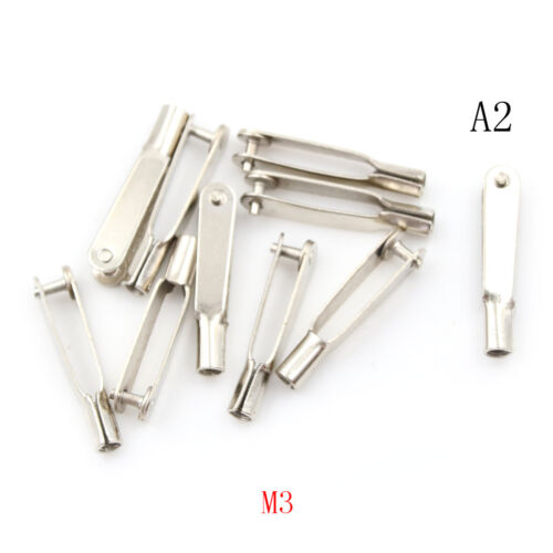 10Pcs M2//M3 Metal Clevis Chuck Rod Clamp for RC Airplane Car Boat FOH/'UK