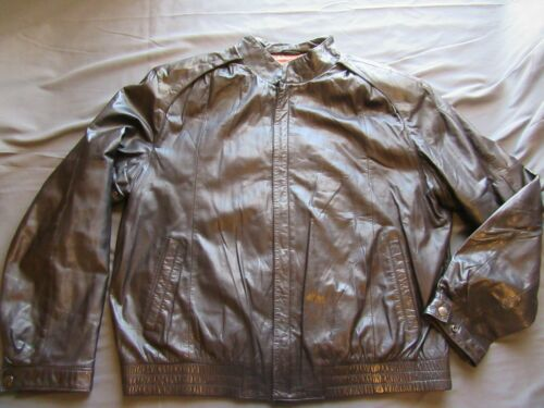 Mens Vtg Remy Brown Leather Motorcycle Bomber Jack